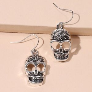 2/$20! Antiqued Silver Sugar Skull Drop Earrings